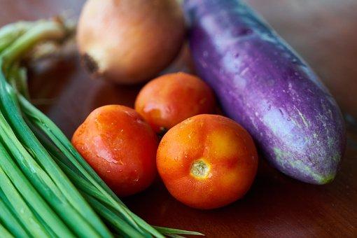 Tomato, Eggplant, Onion, Vegetable, Healthy Eating