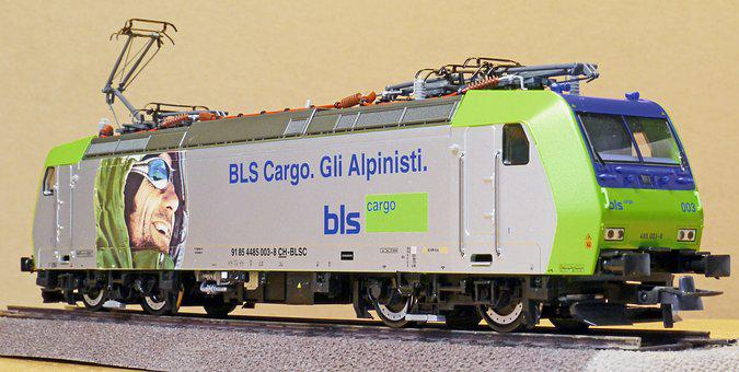 Electric Locomotive, Model, Scale H0, Toys, Bls-cargo