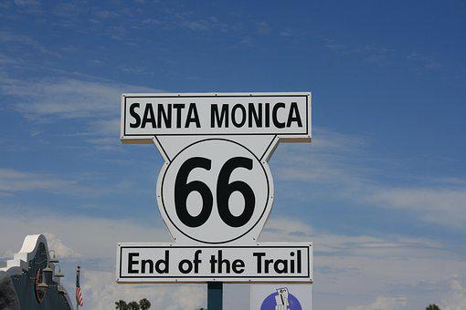 Santa Monica, Route 66, End Of, Route, 66, Highway
