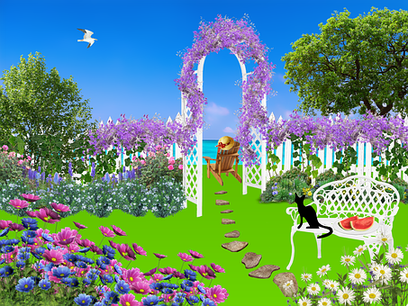 Garden, Flowers, Nature, Plant, Pink Flowers, Trees