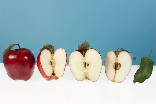 Apple, Fruit, Food, Wallpaper, Minimalist, Minimal