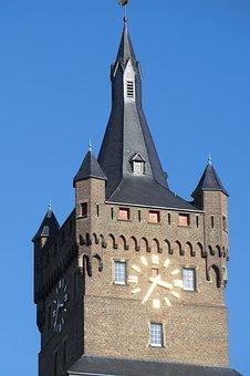 Architecture, Tower, Germany, Zwanenburg, Kleve, Stick