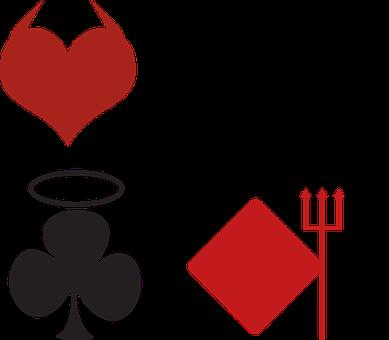 Cards, Angel, Card, Club, Devil, Diamond, Halo, Heart