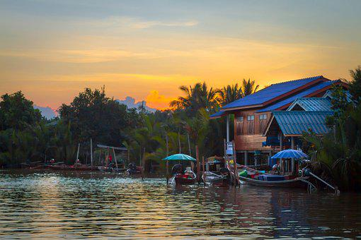 In Some, Surat Thani, Thailand, River, Am Lonely