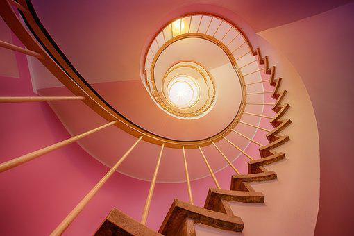Gradually, Light, Architecture, Staircase, Emergence