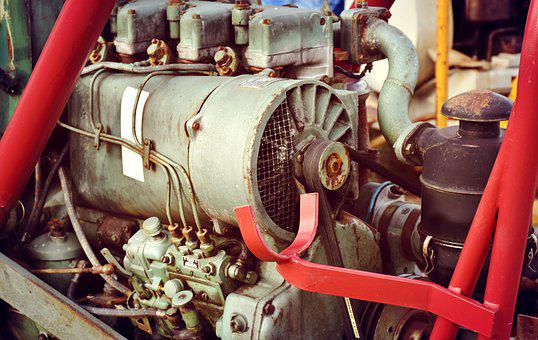 Motor, Tractor, Diesel, Industry, Tube, Steel, Valve