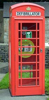 Defibrillator, Telephone, Outdoors, Classic, Nostalgia