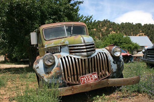 Transportation System, Old, Outdoors, Vehicle, Farm