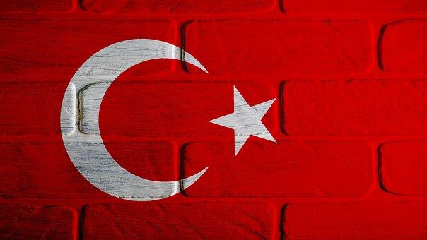 Turkish, Turkey, Flag, Month, Stars, Crescent, Red