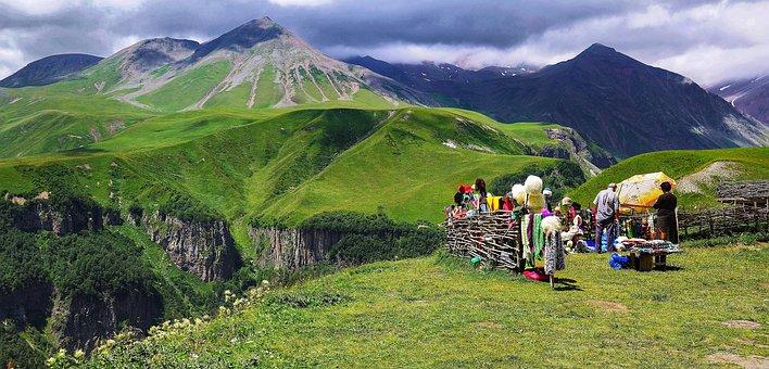 Caucasus, Mountains, Georgia, Country, Summer, Hill