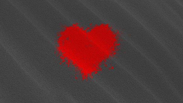 Wallpaper, Texture, Love, Art, Heart, Red, Black