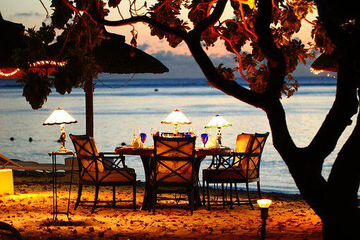 Travel, Human, Coast, Beach, Eat, Dinner, Sunset