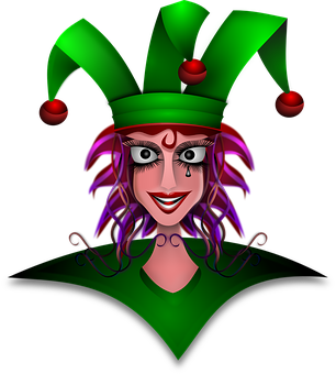 Jester, Woman, Female, Court, Crazy, Dame, Demented