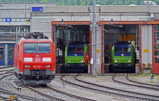 Spiez, Bls, Depot, Locomotives, Maintenance