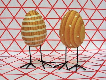Easter Eggs, Eggs, Wooden, Model, Shape, Easter