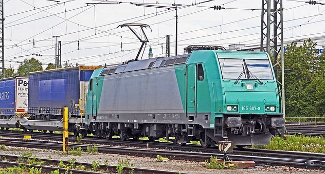 Electric Locomotive, Container Train, Exit, Passau