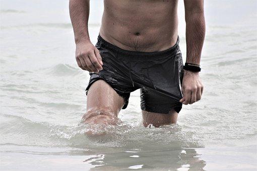 Water, Beach, Fitness, Wet, Athlete, Man, Muscular