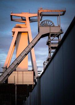 Headframe, Mining, Industrial Plant