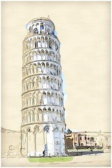 Pisa, Italy, Italia, Baptistery, Tuscany