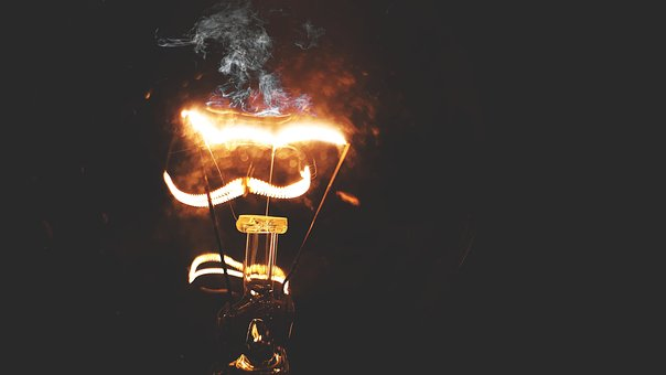 Lamp, Heat, Energy, Smoke, Hot, Danger, Burnt, Power