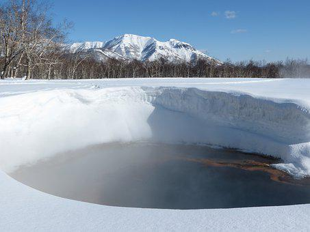 Winter, Snow, Snowdrifts, Frost, Hot Spring, Nature
