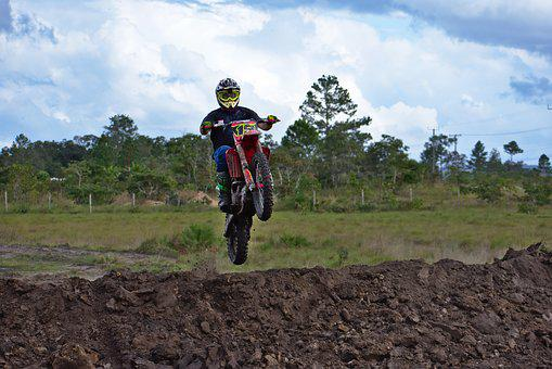 Motocross, Dirtbike, Rider, Soil, Outdoors, Nature
