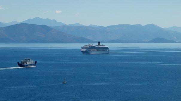 Sea, Nature, Travel, The Ship, Corfu