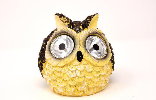 Owl, Solar Lamp, Cute, Bird, Lamp, Figure, Funny