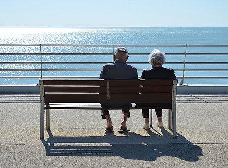 Couple, Passion, Love, Elderly Person, Senior Citizens