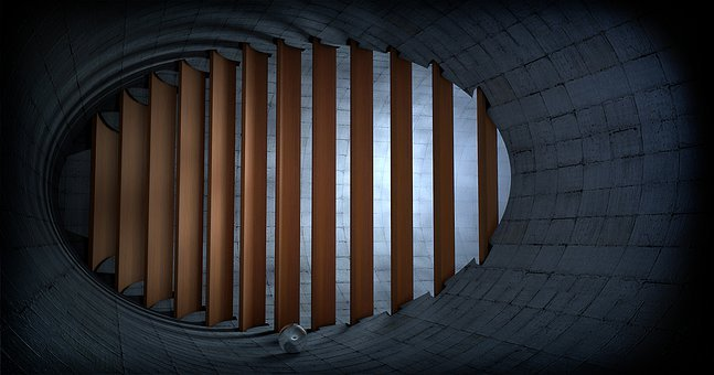 Tunnel, Grid, Shaft, Architecture, Background, Within