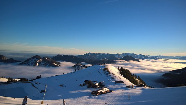 Snow, Panorama, Nature, Winter, Bavaria, Sudelfeld