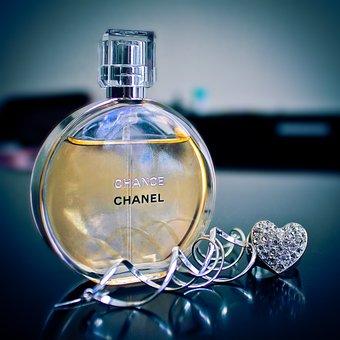 Glass, Sphere, Glitter, Gold, Crystal, Perfume, Jewelry