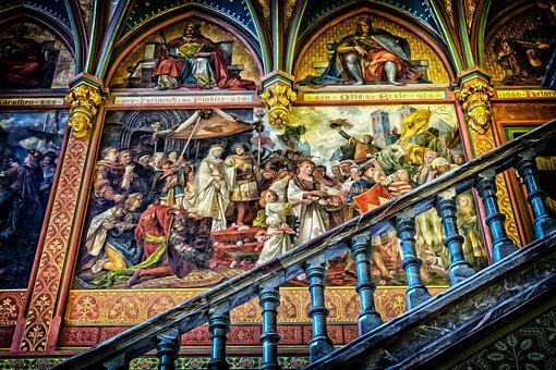 Gallery, Gallery Of Ancestors, Painting, Art, Stairs
