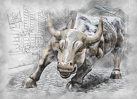 Bull, Statue, Symbol, Animal, Finance, Stock, Exchange