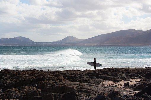 Coast, Sea, Surfer