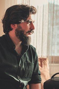 Portrait, Single, Adult, Male, Exposure, Beard