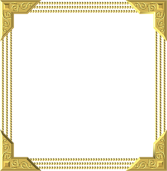 Gold, Frame, Square, Border, Decoration, Decor
