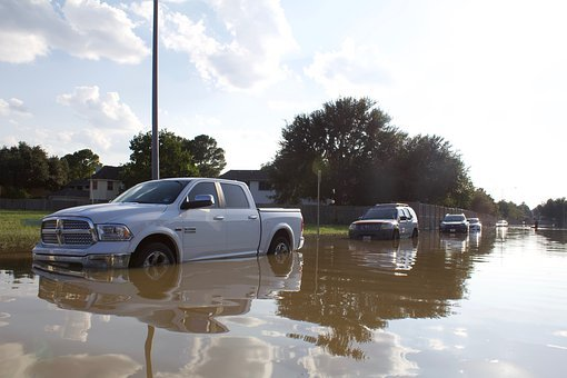 Hurricane Harvey, Car, Water, Flood, Harvey, Hurricane
