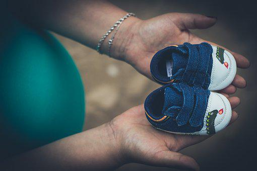 Pregnant, Child, Shoes, Women, Baby, Pregnancy, Mother
