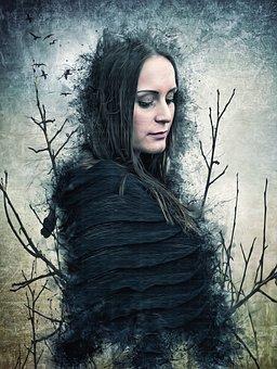 Gothic, Fantasy, Dark, Woman, Female, Beauty, Model