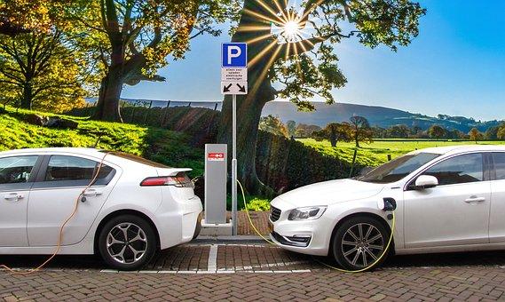 Car, Electric Car, Hybrid Car, Charging Post