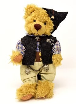 Teddy, Costume, Clothing, Funny, Cute, Bavarian