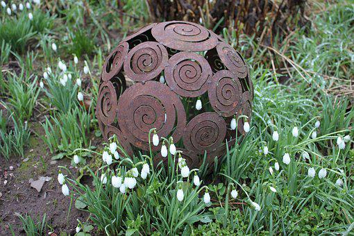 Garden, Flower, Nature, Stainless, Decorative Ball