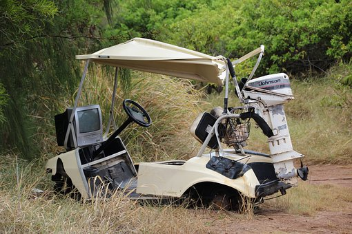 Golf Cart, Outboard Engine, Outboard Motor, Tv