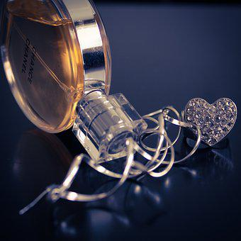 Gold, Jewelry, Perfume, Fashion, Heart, Glamour