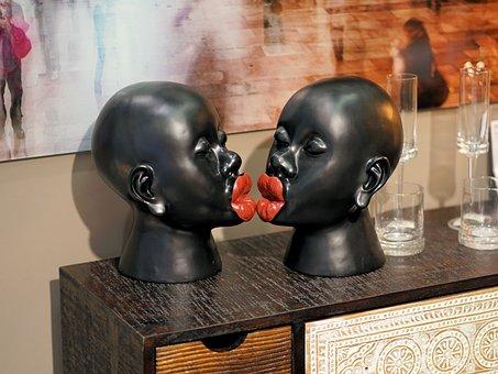 Figure, Kiss, Mouth, Kiss Mouth, Human, Sculpture, Art