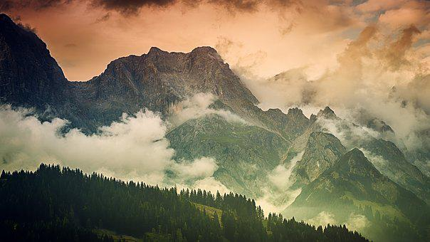 Mountain, Panorama, Landscape, Nature, Sky, Clouds