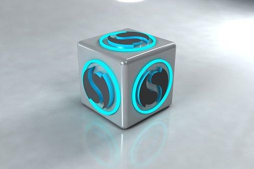 Cube, Logo, 3d Modeling