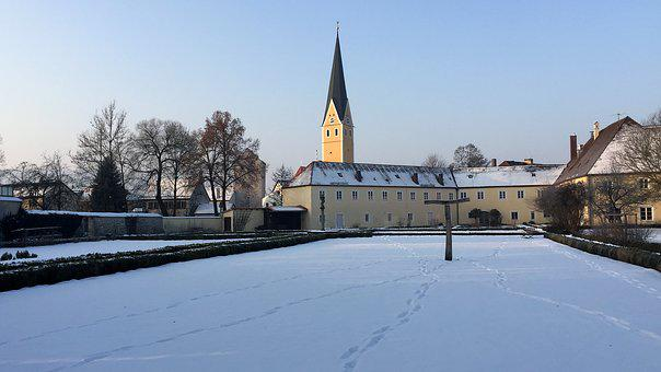 Winter, Snow, Travel, Architecture, Sky, Monastery