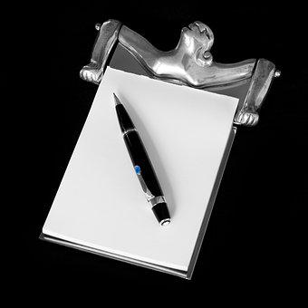 Notepad And Pencil, Carrol Boyes, Pewter Notepad, Woman